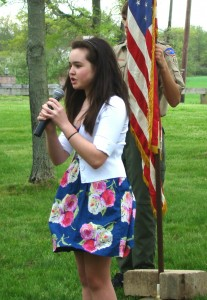 Aisling Tyndall singing National Anthem